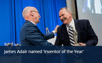 James Adair receiving Inventor of the Year Award