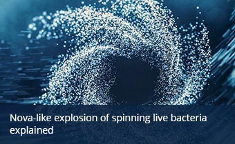 Nova-like explosion of spinning bacteria explained