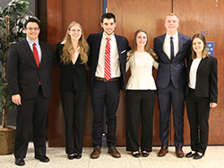 Leonhard Center Speaking Contest honorees