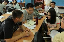 Ryan Dill teaching in China